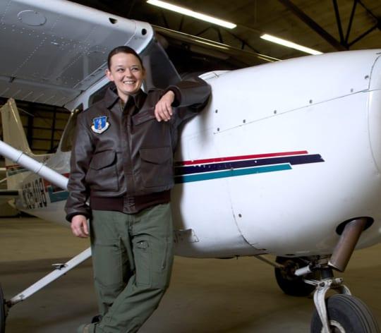 Airmen getting her piolot license