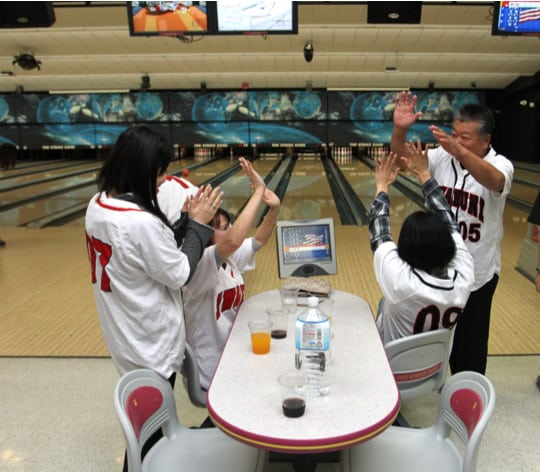 Family at Japanese Military Bowling Center