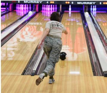 Airmen bowling